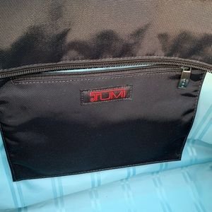 Tumi black travel tote